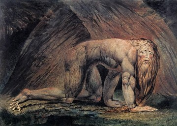 William Blake Painting - Nebuchadnezzar Romanticism Romantic Age William Blake