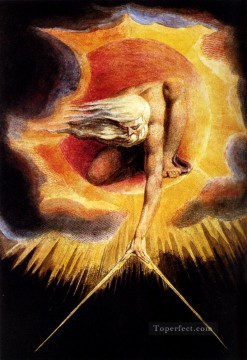 William Blake Painting - The Omnipotent Romanticism Romantic Age William Blake