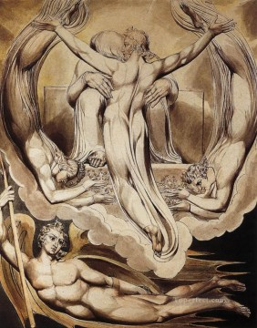 Lake Oil Painting - Christ As The Redeemer Of Man Romanticism Romantic Age William Blake
