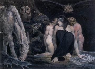 Lake Oil Painting - Hecate Or The Three Fates Romanticism Romantic Age William Blake