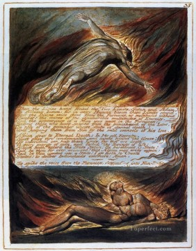 Romantic Painting - The Descent Of Christ Romanticism Romantic Age William Blake