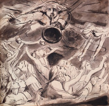 William Blake Painting - The Resurrection Romanticism Romantic Age William Blake
