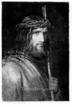 Carl Heinrich Bloch Painting - Christ Portrait Carl Heinrich Bloch