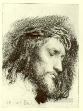 Loch Painting - Portrait of Christ Carl Heinrich Bloch