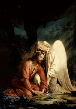 Carl Heinrich Bloch Painting - Christ in Gethsemane2 Carl Heinrich Bloch