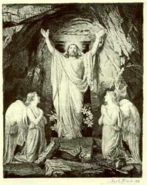 baptism of christ Painting - Resurrection of Christ Carl Heinrich Bloch