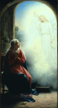 Loch Painting - The Annunciation Carl Heinrich Bloch