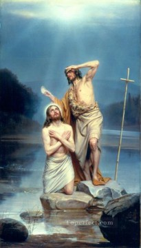 Carl Heinrich Bloch Painting - The Baptism of Christ Carl Heinrich Bloch