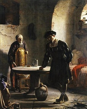 Loch Painting - The imprisoned Danish King Christian II Carl Heinrich Bloch