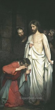 Carl Heinrich Bloch Painting - Doubting Thomas Carl Heinrich Bloch