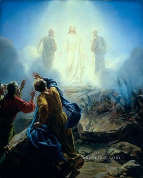 Loch Painting - The Transfiguration Carl Heinrich Bloch