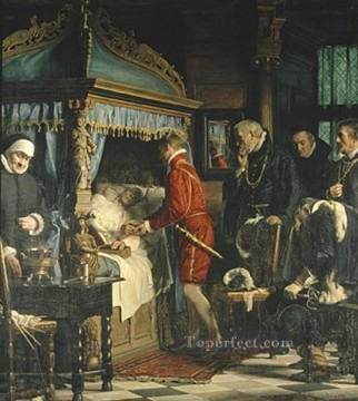 Carl Heinrich Bloch Painting - Chancellor Niels Kaas hand over the keys to Christian IV Carl Heinrich Bloch