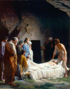 baptism of christ Painting - The Burial of Christ Carl Heinrich Bloch