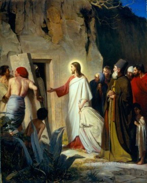 Loch Painting - The Raising of Lazarus Carl Heinrich Bloch