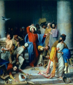 Carl Heinrich Bloch Painting - Casting out the Money Changers Carl Heinrich Bloch