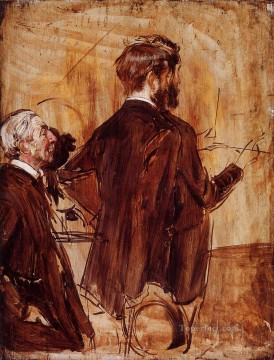 Boldini Painting - In the Studio genre Giovanni Boldini