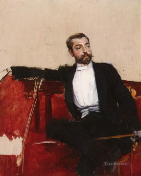 LUOMO DALLO SPARTOA PORTRAIT OF JOHN SINGER SARGENT genre Giovanni Boldini Oil Paintings