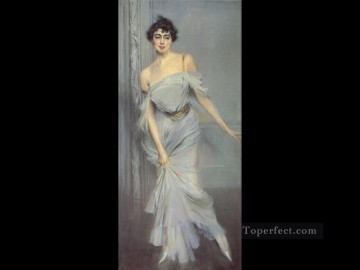 Madame Charles Max genre Giovanni Boldini Oil Paintings