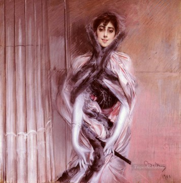 old Painting - Portrait Of Emiliana Concha De Ossa genre Giovanni Boldini