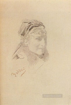 old Works - Portrait Of Sarah Bernhardt genre Giovanni Boldini