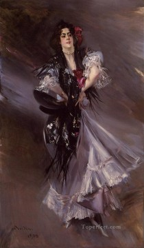 Portrait Painting - Portrait of Anita de la FerieThe Spanish Dancer genre Giovanni Boldini