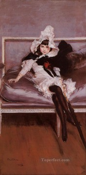 old Works - Portrait of Giovinetta Errazuriz genre Giovanni Boldini