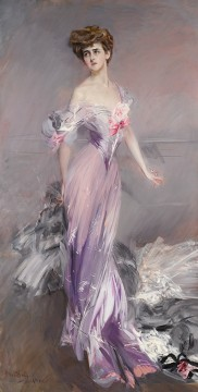 on canvas - Portrait of Mrs Howard Johnston genre Giovanni Boldini