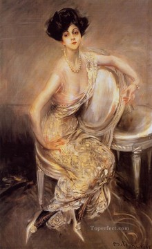 old Works - Portrait of Rita de Acosta Lydig genre Giovanni Boldini