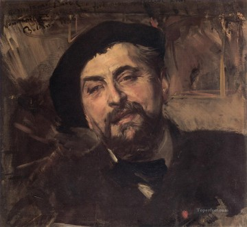 old Painting - Portrait of the Artist Ernest Ange Duez genre Giovanni Boldini