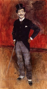 old Painting - Portrait of the Comte de Rasty genre Giovanni Boldini