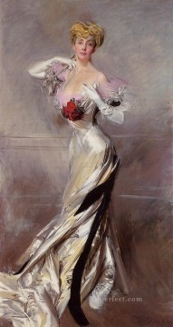old Painting - Portrait of the Countess Zichy genre Giovanni Boldini