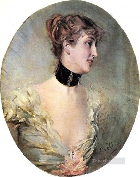 old Painting - The Countess Ritzer genre Giovanni Boldini