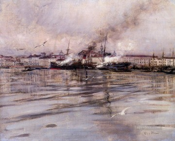 View of Venice scenery Giovanni Boldini Oil Paintings
