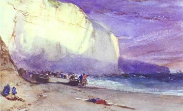 Seascape Canvas - The Undercliff 1828 Romantic seascape Richard Parkes Bonington