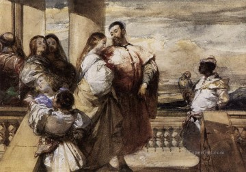 scene Art - A Venetian Scene Romantic Richard Parkes Bonington
