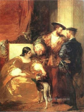on canvas - Francis I and the Duchess of Etampes Romantic Richard Parkes Bonington