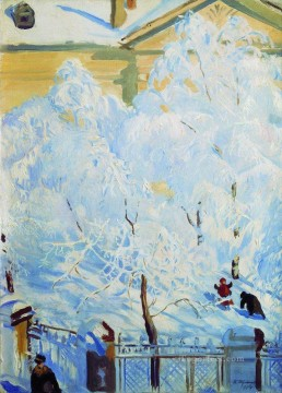 hard rime 1917 Boris Mikhailovich Kustodiev Oil Paintings