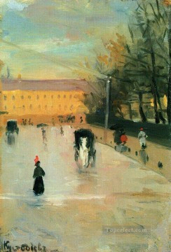 view from the window of the academy of fine arts Boris Mikhailovich Kustodiev Oil Paintings