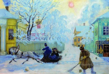 frosty morning 1913 Boris Mikhailovich Kustodiev Oil Paintings