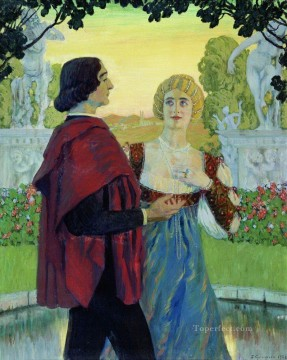 poetry 1902 Boris Mikhailovich Kustodiev Oil Paintings