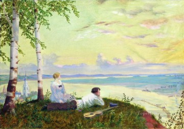on the volga 1922 Boris Mikhailovich Kustodiev Oil Paintings