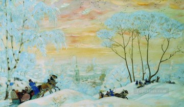 shrovetide 1916 Boris Mikhailovich Kustodiev Oil Paintings