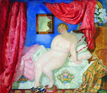 beauty 1918 Boris Mikhailovich Kustodiev Oil Paintings