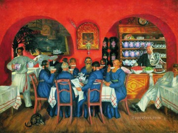 moscow tavern 1916 Boris Mikhailovich Kustodiev Oil Paintings