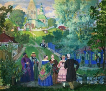 summer province 1922 Boris Mikhailovich Kustodiev Oil Paintings