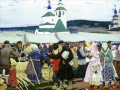at the fair 1906 Boris Mikhailovich Kustodiev