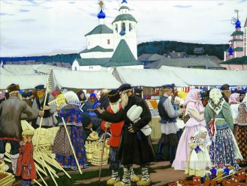 at the fair 1906 Boris Mikhailovich Kustodiev Oil Paintings