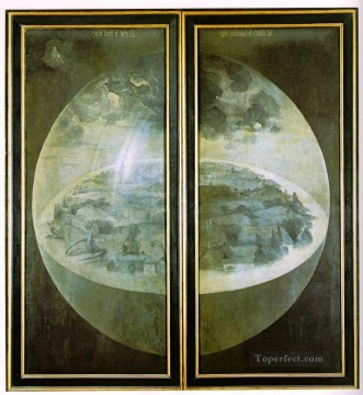 Hieronymus Oil Painting - Garden of Earthly Delights outer wings of the triptych moral Hieronymus Bosch