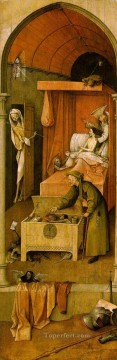 Hieronymus Bosch Painting - Death and the Miser moral Hieronymus Bosch