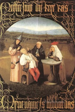The Cure of Folly moral Hieronymus Bosch Oil Paintings